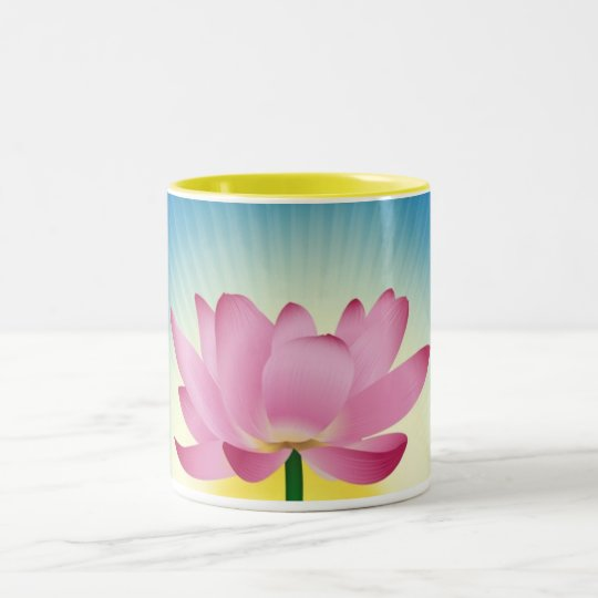 Lotus In Sunrise Two-Tone Coffee Mug