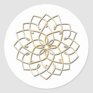 Lotus Knot Sticker (white)