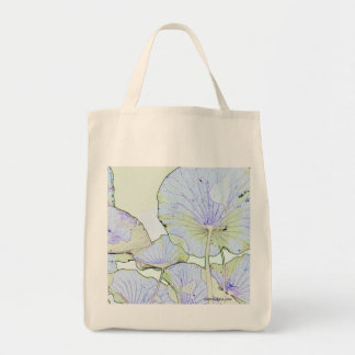 Lotus leaves tote bag