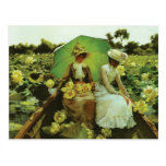 Lotus Lilies by Charles Courtney Curran Postcard
