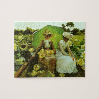 Lotus Lilies by Charles Courtney Curran Puzzles