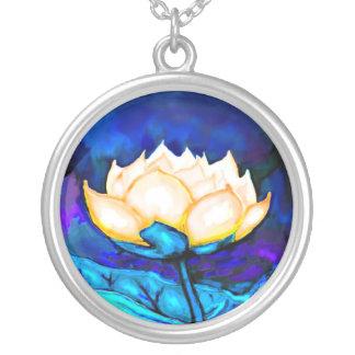Lotus Lily Flower Pond Water Necklace