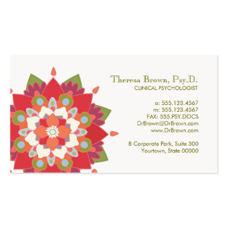 Lotus Logo Wellness and Mental Health Appointment Pack Of Standard Business Cards