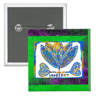 Lotus: Love and Joy 15 Cm Square Badge