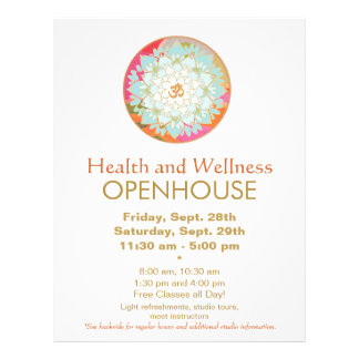 Lotus Mandala Health and Wellness Flyer