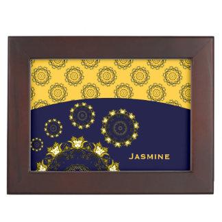 Lotus Mandala (Henna) (Golden) Memory Boxes