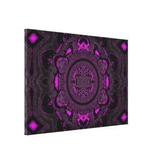 Lotus Mandala in Light Pink and Black PastelsC1SDL Gallery Wrap Canvas