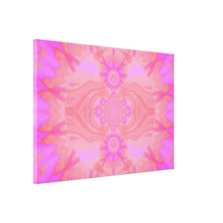 Lotus Mandala in Light Pink Pastels C1 SDL Gallery Wrapped Canvas