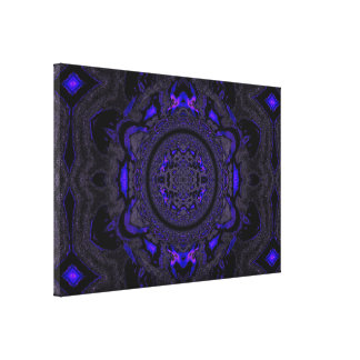 Lotus Mandala in Purple and Black Pastels C1 SDL Gallery Wrapped Canvas