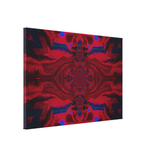 Lotus Mandala in Red and Blue Pastels C1 SDL Canvas Print
