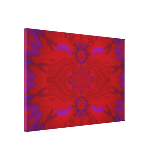 Lotus Mandala in Red and Purple Pastels 1 C1 SDL Stretched Canvas Prints