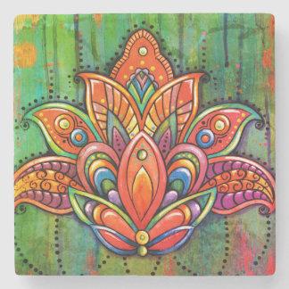 LOTUS Mandala Tile Stone Coaster