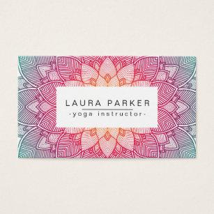 Yoga instructor business cards business card printing zazzle uk lotus mandala yoga instructor meditation fitness business card colourmoves