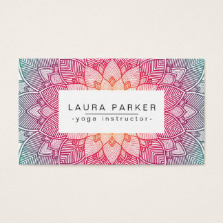 Lotus Mandala Yoga Instructor Meditation Fitness Business Card