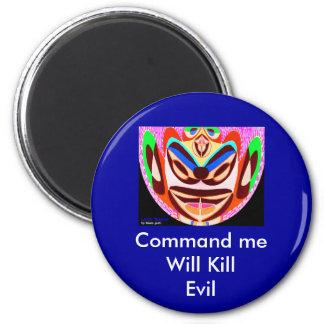 Lotus Mascot  - Will Kill Evil 6 Cm Round Magnet