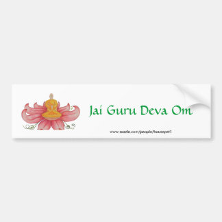 Lotus Meditation detail, Jai Guru Deva Om Bumper Sticker