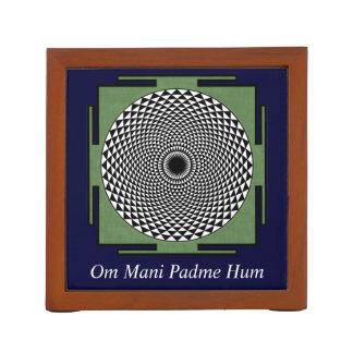 Lotus meditation dharma wheel Pencil/Pen holder