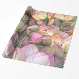 Lotus Moods Art Gift Wrap Wrapping Paper