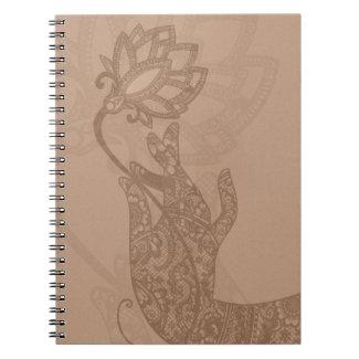 Lotus Mudra Mehndi notebook