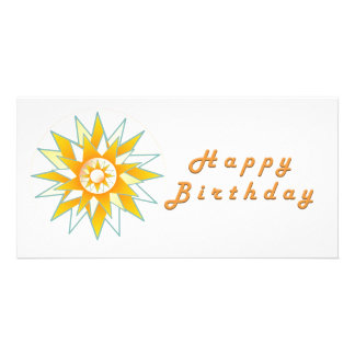 Lotus n Sun Chakra :  GOODLUCK Designs Customised Photo Card