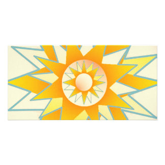 Lotus n Sun Chakra :  GOODLUCK Designs Personalised Photo Card