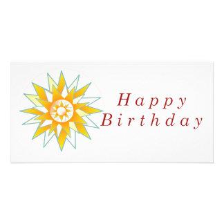 Lotus n Sun Chakra :  GOODLUCK Designs Personalized Photo Card