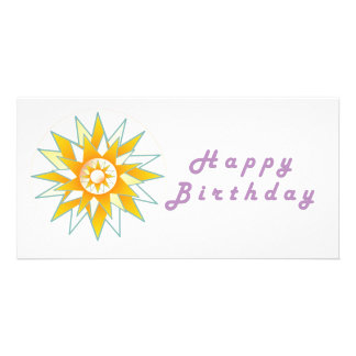 Lotus n Sun Chakra :  GOODLUCK Designs Personalized Photo Card
