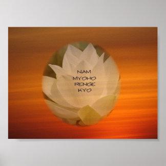 """Lotus """"Nam Myoho Renge"""" Kyo Poster"""