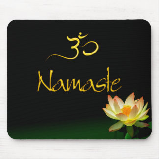 Lotus Namaste mousepad with om