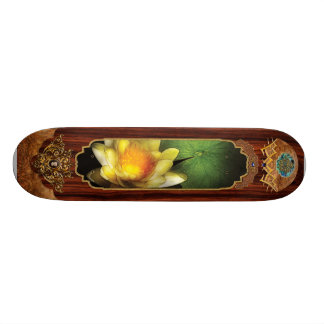 Lotus - Nymphaea - Yellow lily Skateboard