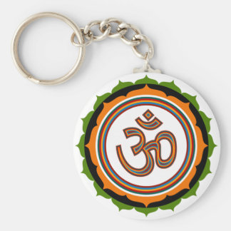 Lotus Om Design Key Ring
