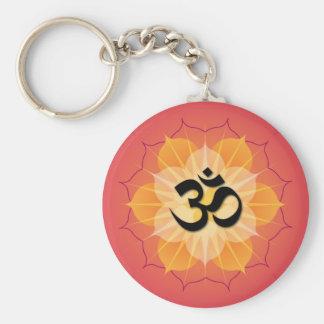 Lotus Om Key Ring