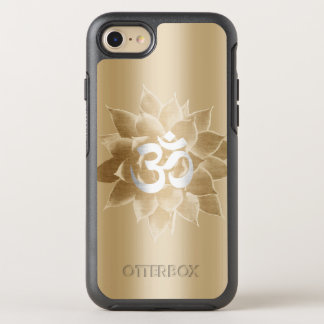 Lotus & Om Sign Foil Gold Elegant OtterBox Symmetry iPhone 7 Case