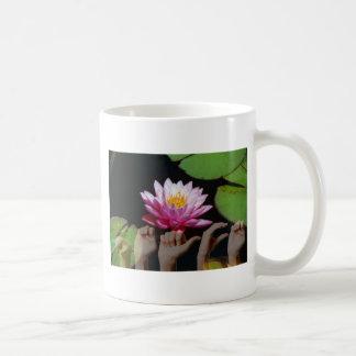 Lotus + Peace ASL Mug