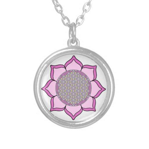 Lotus Pink3 Custom Necklace