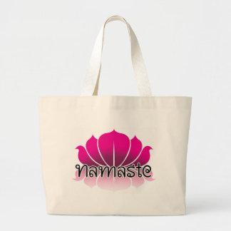 Lotus Pink Jumbo Tote Bag