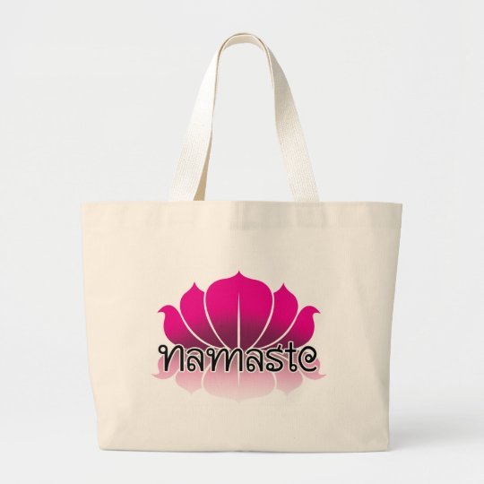 Lotus Pink Large Tote Bag