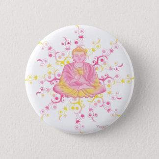 Lotus pose 6 cm round badge