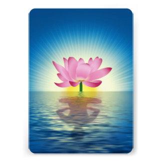 Lotus Reflection Personalized Invitation