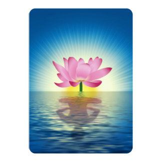 Lotus Reflection 5x7 Paper Invitation Card