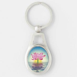 Lotus Reflection Key Ring