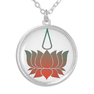 Lotus Round Pendant Necklace