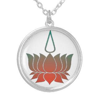 Lotus Round Pendant Necklace