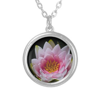 Lotus Silver Plated Necklace