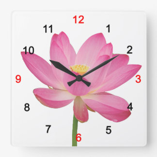 Lotus Square Wall Clock