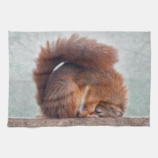 Lotus Squirrel Kitchen Towel