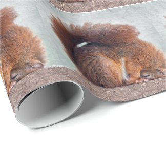 Lotus Squirrel Wrapping Paper