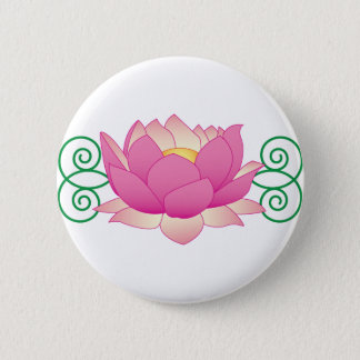 Lotus Swirl 6 Cm Round Badge