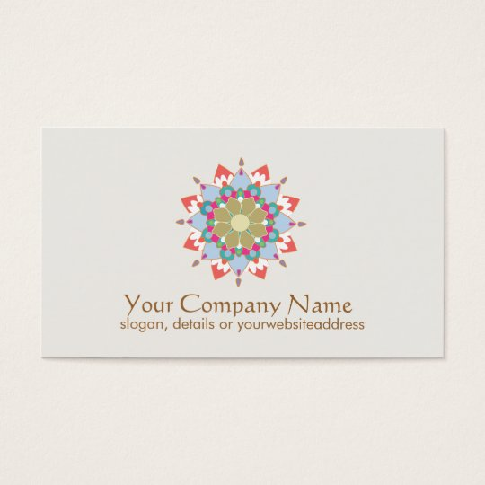 Lotus Symbol Health and Healing Business Card
