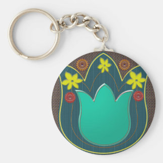 LOTUS Temple Art Refreshing Healing Colors GIFTS Key Chain